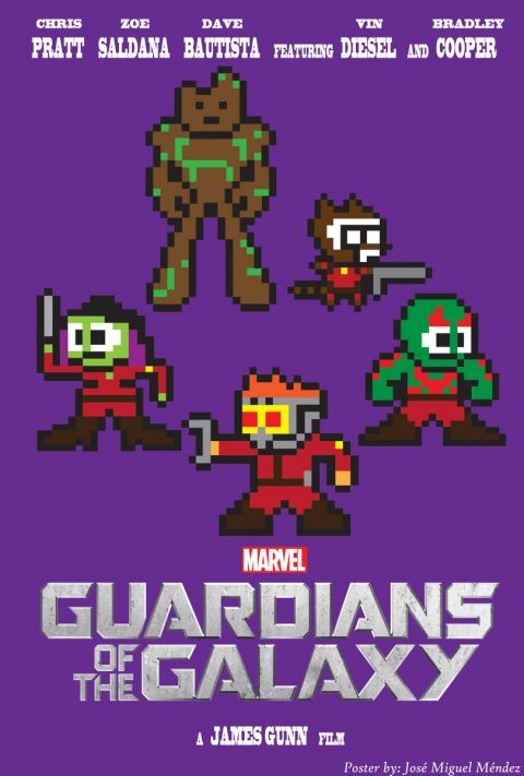 Guardians Of The Galaxy 8-Bit Poster