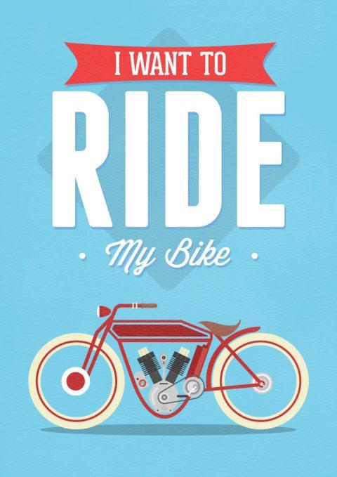 Motor Bike print