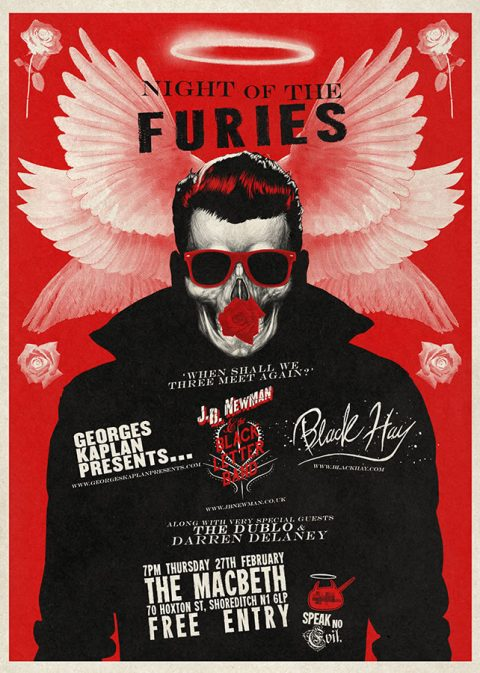 NIght of the Furies Gig poster