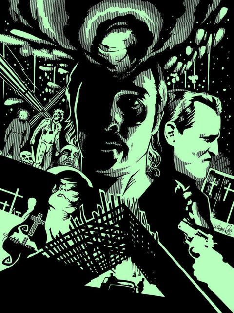 "True Detective Print for Bottleneck Gallery's ""When the Lights Go Out 2″"