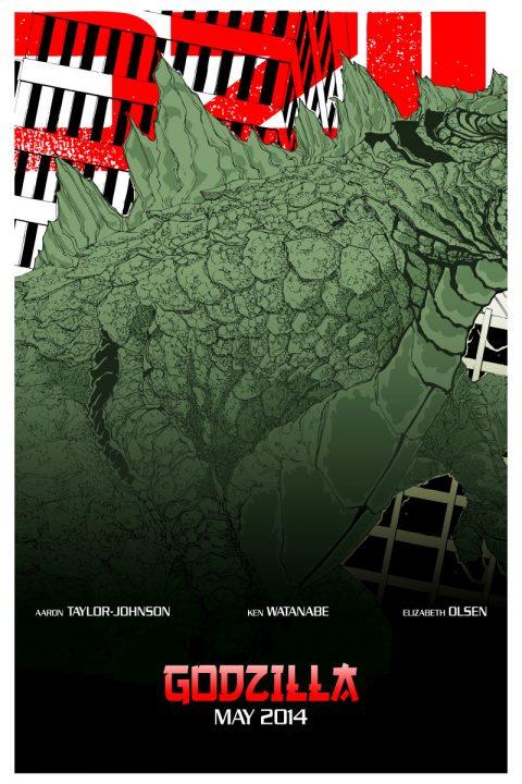 Godzilla Triptych Poster B