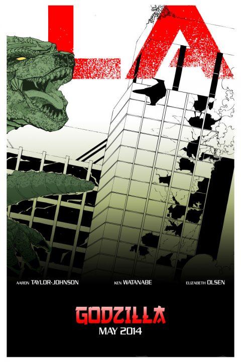 Godzilla Triptych Poster C