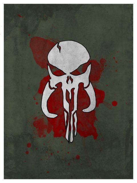 Bantha Punisher Skull mashup