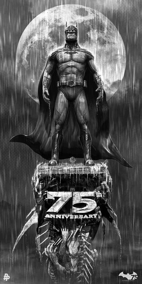 Batman 75th Anniversary Tribute Art.