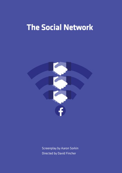 The Social Network minimalist film poster