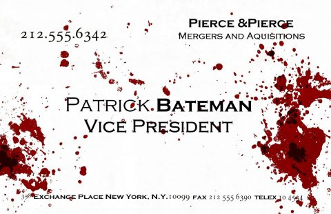 "American Psycho ""Patrick's Business Card"""