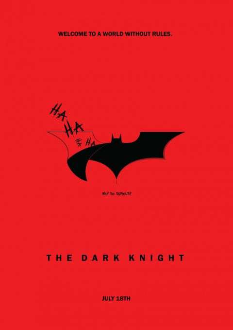 The Dark Knight minimal film poster