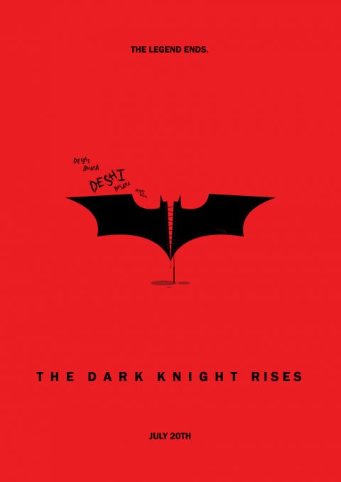The Dark Knight Rises minimal film poster