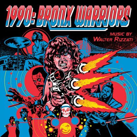 1990: Bronx Warriors Soundtrack Insert + Poster for DeathWaltz Recording Co.