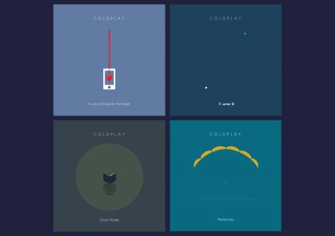 Minimal Coldplay album collection