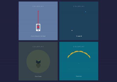 Minimal Coldplay album collection