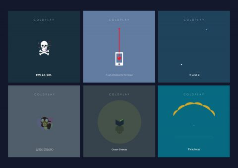 Coldplay minimal album cover collection