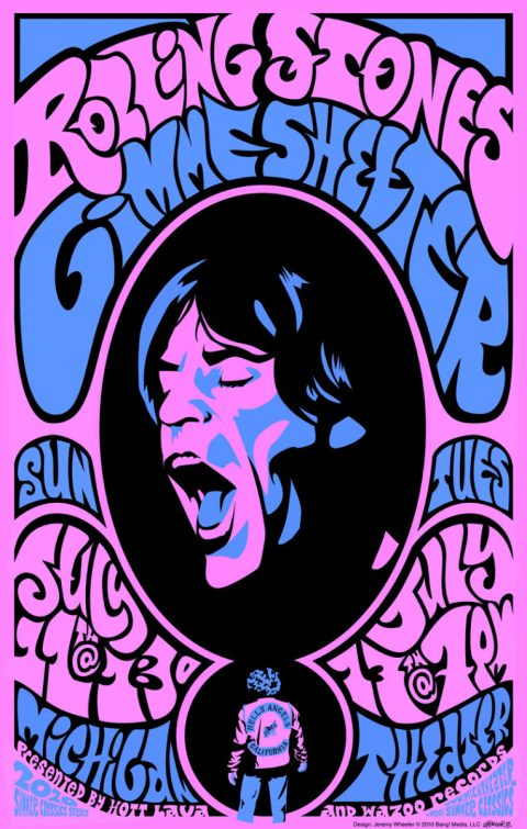 Gimme Shelter Blacklight Print
