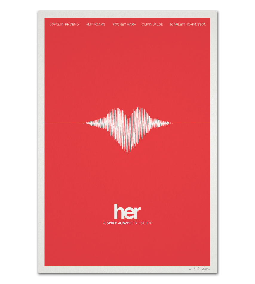 Her movie poster posterspy for Art minimaliste artiste