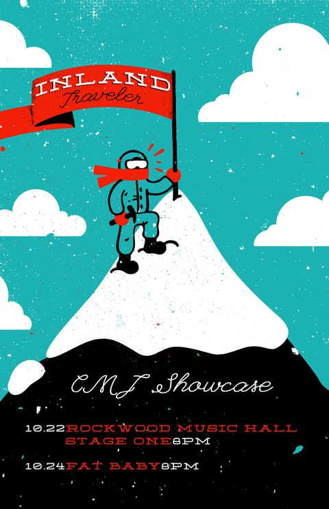 Inland Traveler gig poster