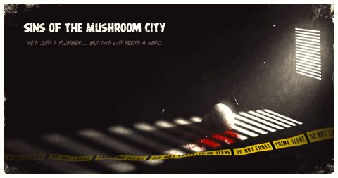 Fictional Noir Supermario Movie Poster