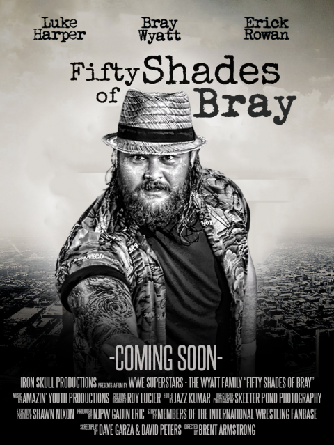 50 shades of Bray (WWE parody poster)