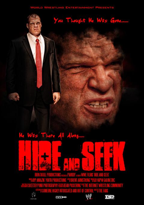 Hide and Seek (WWE parody poster)