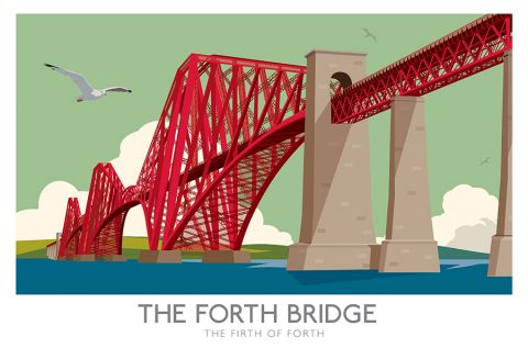 Forth Rail Bridge Railway poster