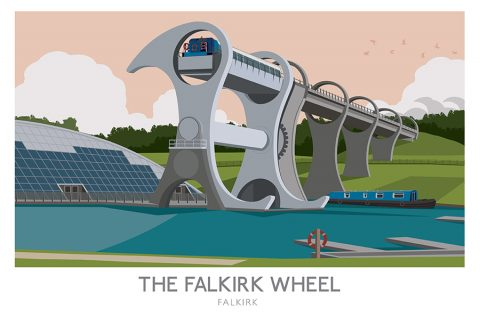 Falkirk Wheel Railway Poster