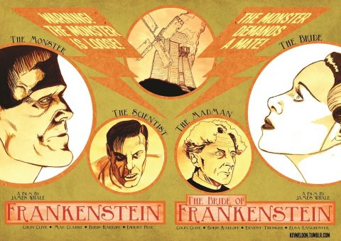 FRANKENSTEIN/BRIDE OF FRANKENSTEIN DIPTYCH