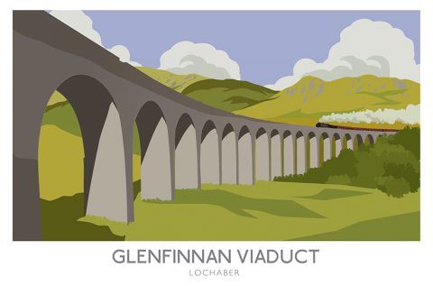 Glenfinnan Viaduct Railway poster