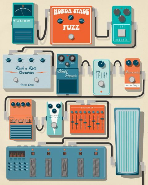 Honda Stage Pedal Board promo poster