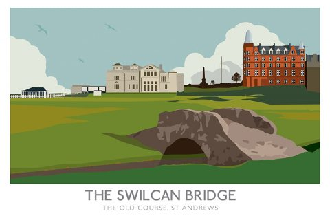 Swilcan Bridge Railway Poster