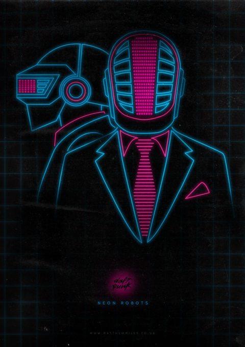 Neon Robots – Daft Punk