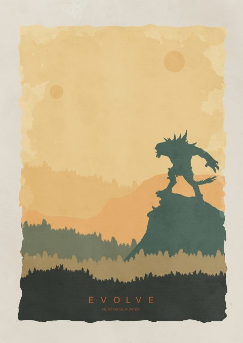 Evolve Retro Poster