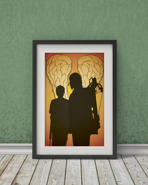 The Walking Dead Inspired Poster – Daryl and Carol – Fan Art, Minimalist