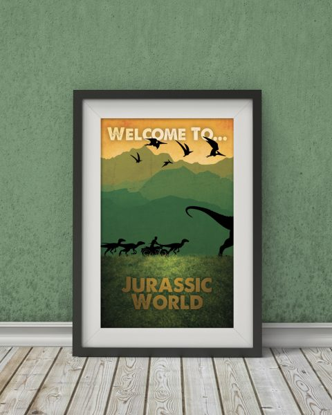 Jurassic World-Inspired Movie Poster � Fan Art, Minimalist