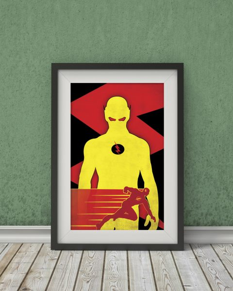 The Flash Inspired TV Show Poster – Minimalist, Wall Art