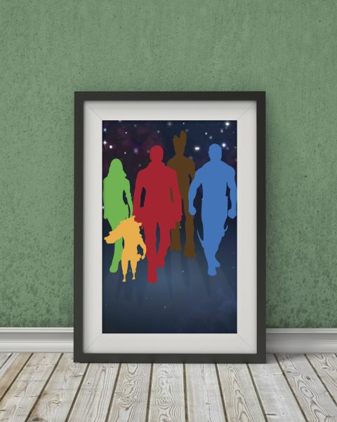 Marvel's Guardians of the Galaxy-Inspired Group Movie Poster – Fan Art, Minimalist