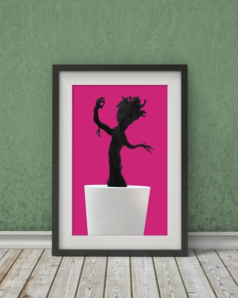 Marvel's Guardians of the Galaxy-Inspired Original Baby Groot Movie Poster – Fan Art, Minimalist