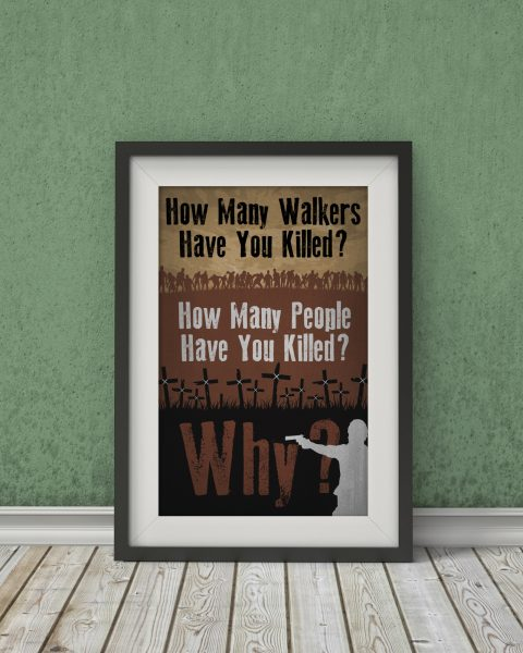 "The Walking Dead ""Rick's 3 Questions"" – TV Show Poster, Fan Art, Minimalist"