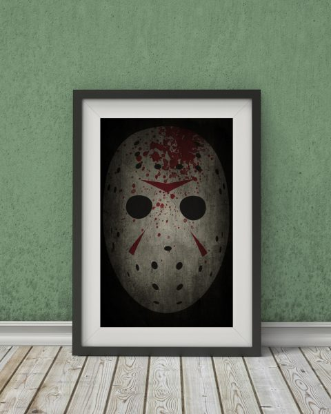 Friday the 13th-Inspired Movie Poster – Jason Voorhees – Fan Art, Minimalist