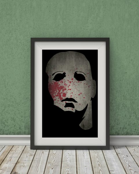 Halloween-Inspired Movie Poster – Michael Myers – Fan Art, Minimalist