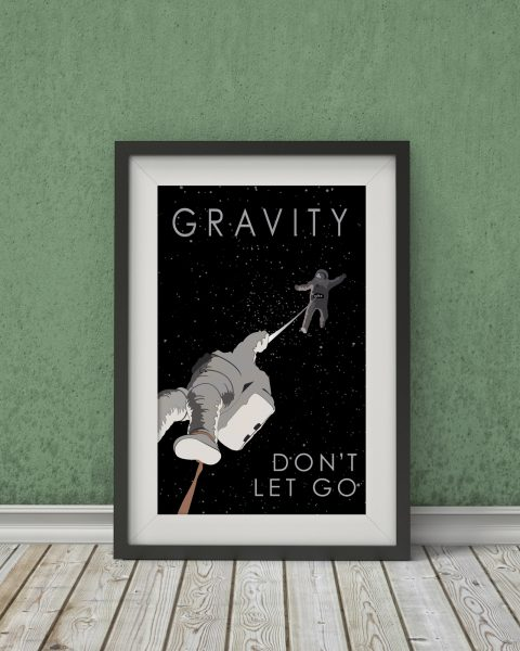 Gravity-Inspired Movie Poster – Fan Art, Minimalist