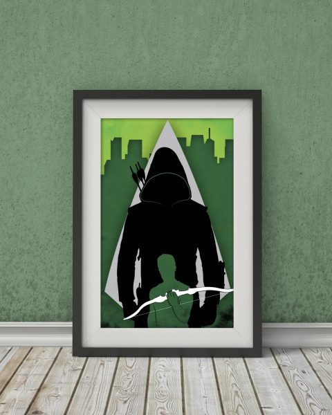 Arrow – Green Arrow TV Show Poster – Wall Art, Digital Print