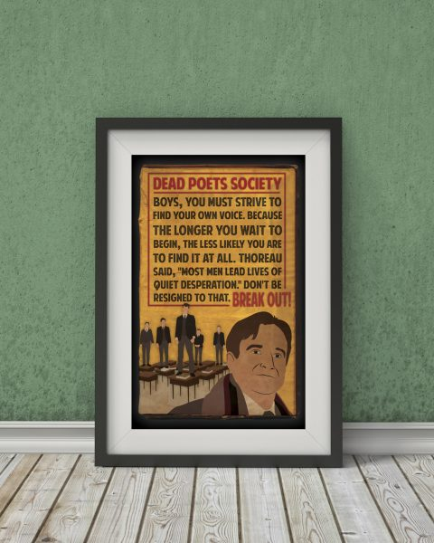 Dead Poets Society-Inspired Movie Poster – Fan Art, Minimalist