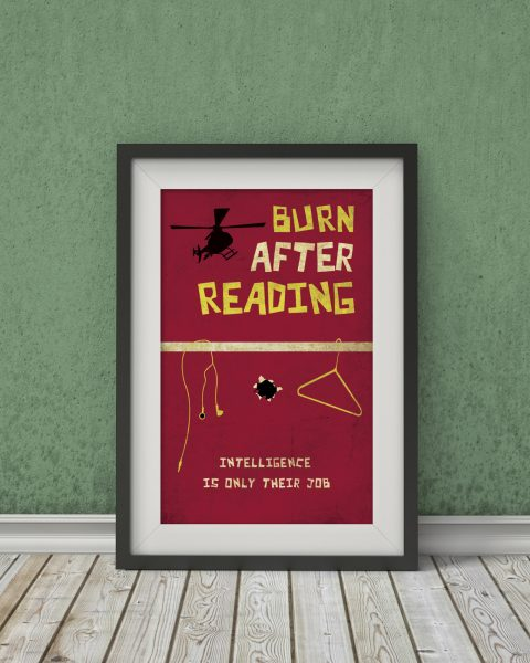 Burn After Reading-Inspired Movie Poster – Fan Art, Minimalist