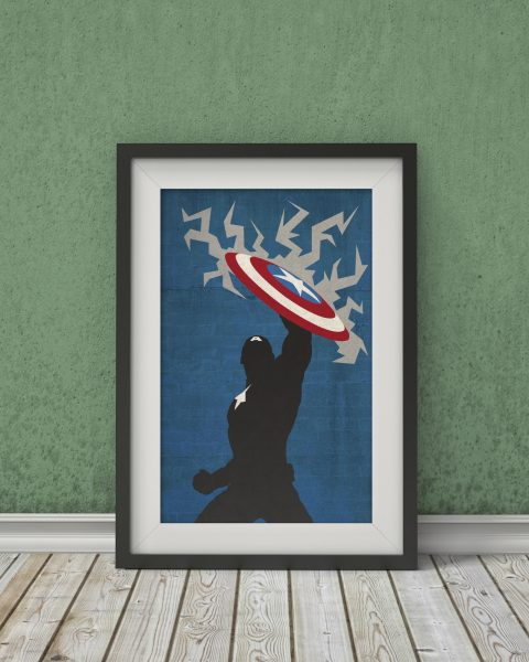 Marvel's The Avengers – Captain America Inspired Poster – Wall Art, Fan Art, Minimalist