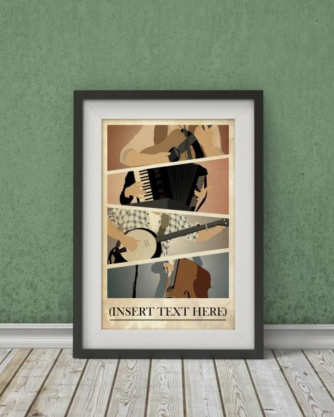 Mumford and Sons Inspired Poster – Music Poster, Wall Art