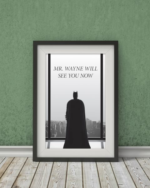 50 Shades of Grey/Batman Crossover Poster – Fan Art, Movie Poster, Minimalist