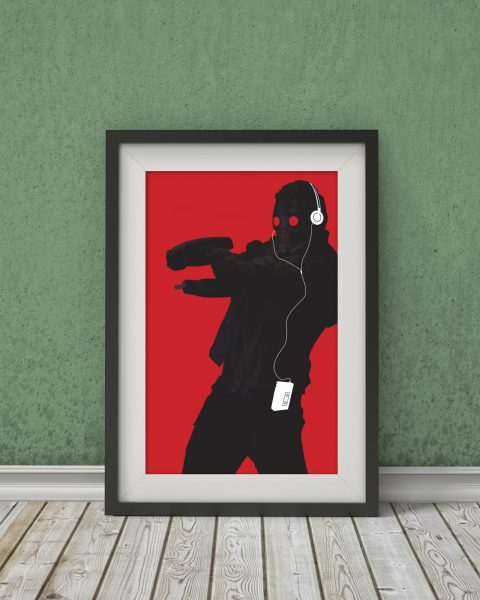 Marvel's Guardians of the Galaxy-Inspired Original Star-Lord Character Poster – Wall Art, Minimalist