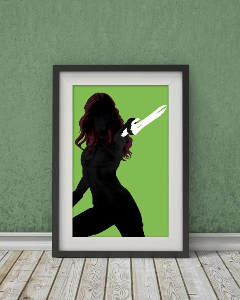 Marvel's Guardians of the Galaxy-Inspired Original Gamora Movie Poster – Wall Art, Minimalist