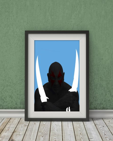 Marvel's Guardians of the Galaxy-Inspired Original Drax the Destroyer Movie Poster – Wall Art, Minimalist