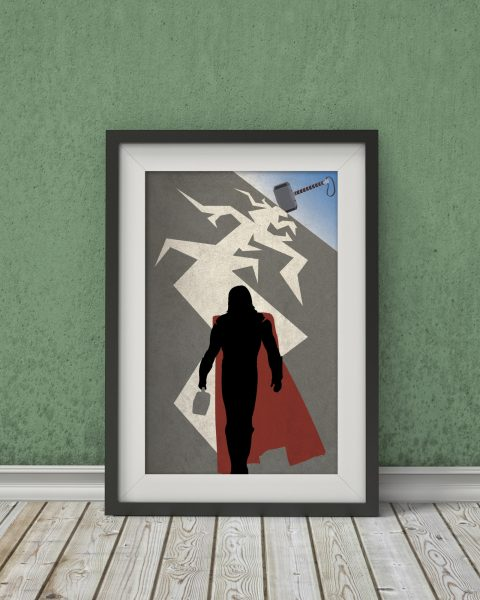 Marvel's The Avengers – Thor Inspired Poster – Wall Art, Fan Art, Minimalist