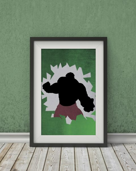 Marvel's The Avengers – Hulk Inspired Poster – Wall Art, Fan Art, Minimalist